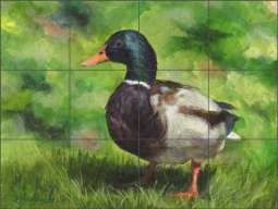 Just Ducky by Debbie Hughbanks Ceramic Tile Mural - DHA011