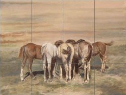 Lunch Bunch by Debbie Hughbanks Ceramic Tile Mural