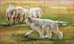 The Shepard of Brie by Debbie Hughbanks Ceramic Tile Mural - DHA029