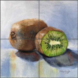 Kiwi by Diane Hughbanks Ceramic Tile Mural - DHA034
