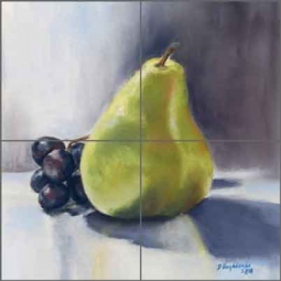 Ah Pear by Diane Hughbanks Ceramic Tile Mural - DHA036