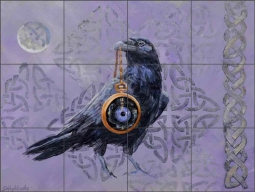 Raven's Watch by Debbie Hughbanks Ceramic Tile Mural - DHA053