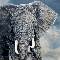 Out of Serengeti by Debbie Hughbanks Ceramic Accent & Decor Tile - DHA054AT