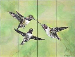 Larger Than Life by Debbie Hughbanks Ceramic Tile Mural - DHA055