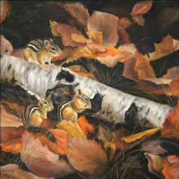 Autumn Forage by Debbie Hughbanks Ceramic Accent & Decor Tile DHA058AT