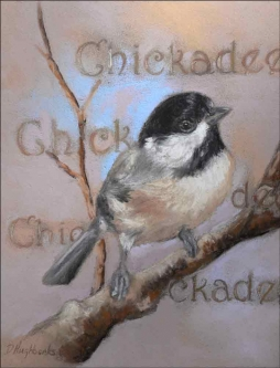 Chickadee by Debbie Hughbanks Ceramic Accent & Decor Tile DHA061AT