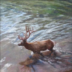 Elk River by Debbie Hughbanks Ceramic Accent & Decor Tile - DHA063AT