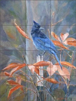 A Stellar Autumn by Debbie Hughbanks Ceramic Tile Mural DHA076