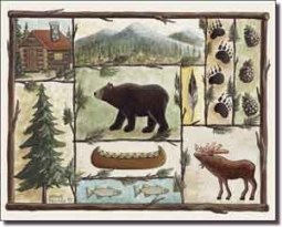 "Jensen Animal Lodge Art Ceramic Accent Tile 10"" x 8"" - DJ002AT"