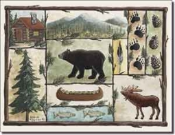 "Jensen Animal Lodge Art Ceramic Accent Tile 8"" x 6"" - DJ002AT"