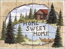 Down by the Lake by Donna Jensen Ceramic Tile Mural - DJ005