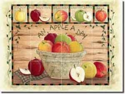 "Jensen Apple Fruit Glass Tile Mural 24"" x 18"" - DJ007"