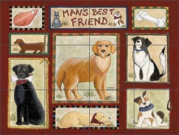 Man's Best Friend by Donna Jensen Ceramic Tile Mural - DJ025