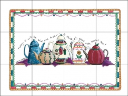 Tea Time by Donna Jensen Ceramic Tile Mural - DJ031