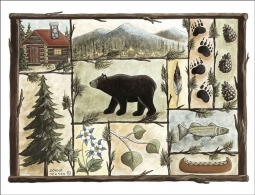 Woodland Sampler by Donna Jensen Ceramic Accent & Decor Tile - DJ033AT
