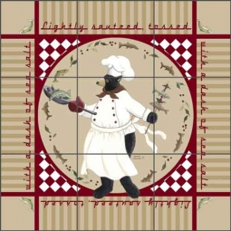 Jensen Chef Bear Ceramic Tile Mural - DJ037