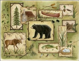 Jensen Wildlife Lodge Art Ceramic Accent Tile - DJ039AT