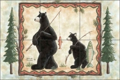 Catch of the Day by Donna Jensen Ceramic Tile Mural - DJ045