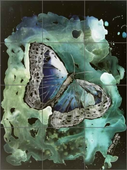 Monarch Butterfly II by Derek McCrea Ceramic Tile Mural DMA042