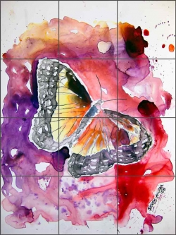Monarch Butterfly by Derek McCrea Ceramic Tile Mural - DMA047