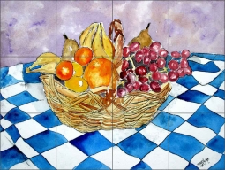 Fruit Still Life II by Derek McCrea Ceramic Tile Mural - DMA050