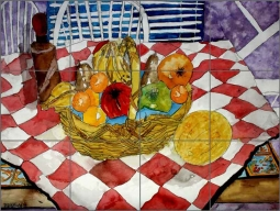 Fruit Still Life III by Derek McCrea Ceramic Tile Mural DMA051