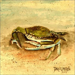 Crab by Derek McCrea Ceramic Accent & Decor Tile - DMA078AT