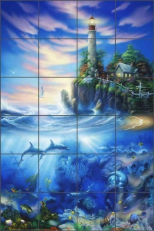 Eternal Light by David Miller Ceramic Tile Mural - DMA2006