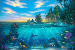 Paradise Found by Dennis Miller Ceramic Tile Mural - DMA2016