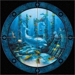 Port Hole by David Miller Glass Wall & Floor Tile Mural - DMA2036