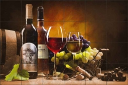 A Taste of Napa Valley by David Miller Ceramic Tile Mural - DMA2040CS