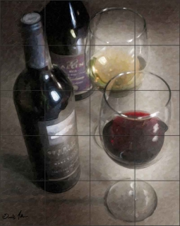 Wine in Color by David Miller Ceramic Tile Mural - DMA2046