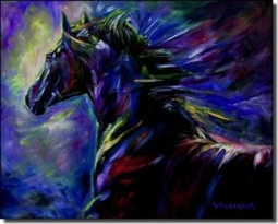 "Williams Horse Equine Ceramic Accent Tile 10"" x 8"" - DWA004AT"