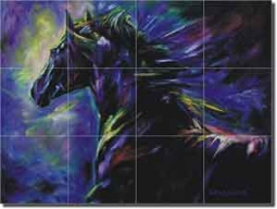 "Williams Horse Equine Art Floor Tile Mural 32"" x 24"" - DWA004"