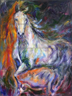 Baroque Mare by Diane Williams Ceramic Tile Mural DWA011