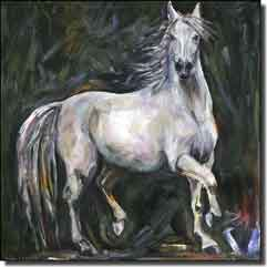 "Williams Horse Equine Ceramic Accent Tile 6"" x 6"" - DWA012AT"