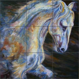 Williams Horse Equine Ceramic Tile Mural DWA013