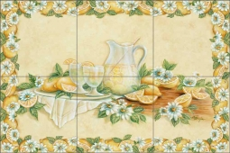 Lemonade by Rita Broughton Ceramic Tile Mural EC-RB004