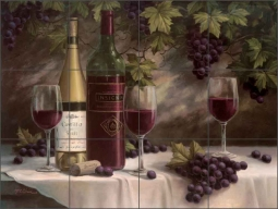 Wine Insignia II by T. C. Chiu Ceramic Tile Mural - EC-TC007