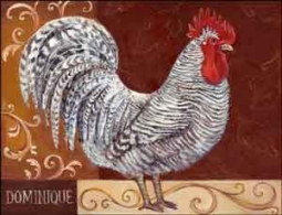 "Kasun Dominique Rooster Ceramic Accent Tile 8"" x 6"" - EC-TK001AT"