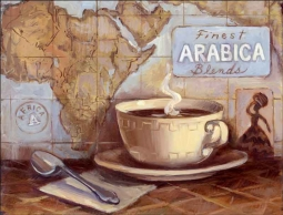 Arabica Blends by Theresa Kasun Ceramic Accent & Decor Tile - EC-TK003AT
