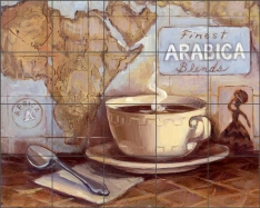 Arabica Blends by Theresa Kasun Ceramic Tile Mural EC-TK003