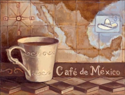 Cafe de Mexico by Theresa Kasun Ceramic Accent & Decor Tile - EC-TK005AT