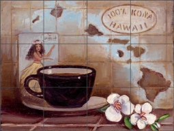 Kona Hawaii by Theresa Kasun Ceramic Tile Mural EC-TK010