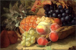 Stannard Pineapple Grapes Fruit Ceramic Tile Mural EHS002