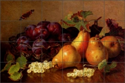 Stannard Pears Fruit Art Ceramic Tile Mural EHS003