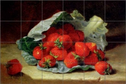 Stannard Strawberry Fruit Ceramic Tile Mural EHS004