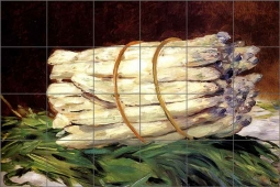 Manet Vegetable Asparagus Ceramic Tile Mural - EM3001