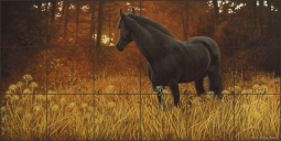 Dark Horse by Liz Mitten Ryan Ceramic Tile Mural - EWH-LMR001