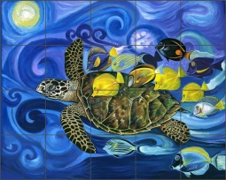 Traveler by Fernando Agudelo Ceramic Tile Mural FAA022